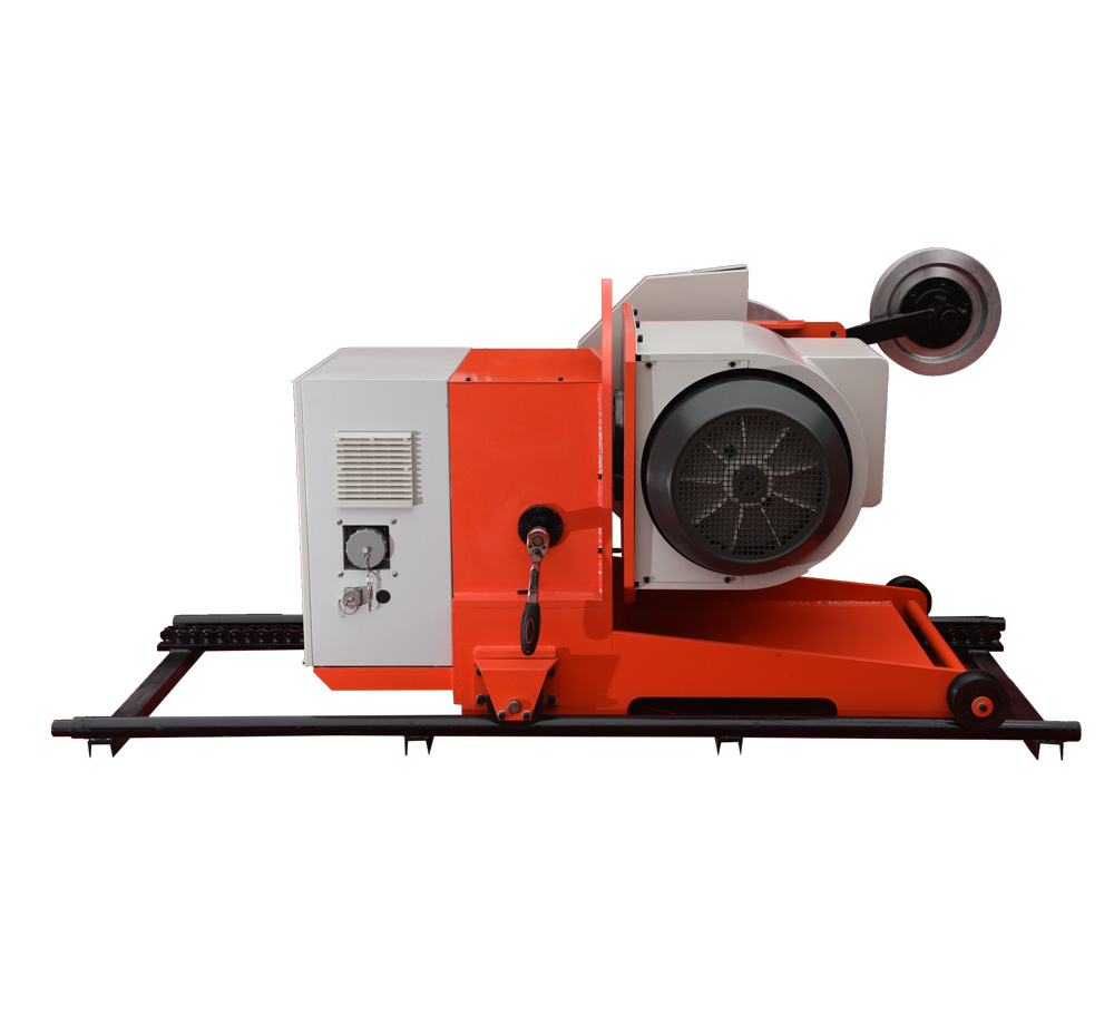 Wire saw machine for block squaring